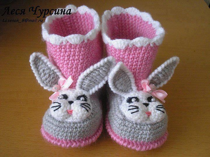 Abc Knitting Patterns Baby Booties : 10+ images about Crochet - Baby And Kids Shoes 3 ! - Novelty on Pinterest R...