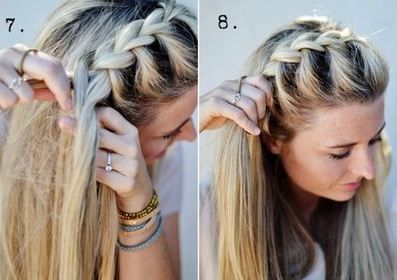 1000 images about trenzas on pinterest - Trenzas de lado ...