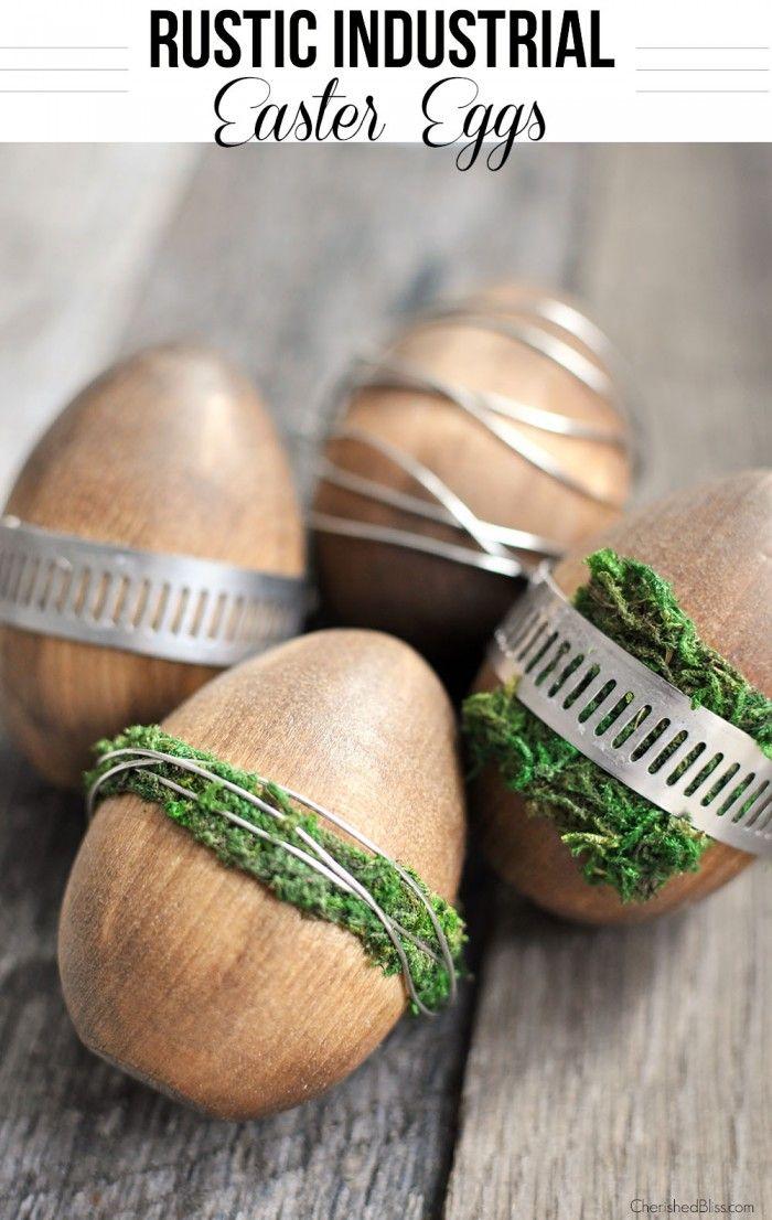 Wooden Rustic Industrial Easter Egg Tutorial