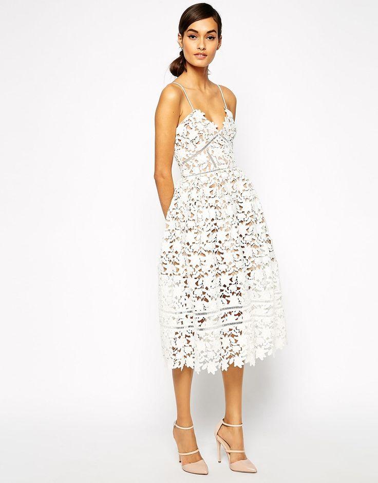 Self Portrait Azaelea Midi Dress In Textured Lace