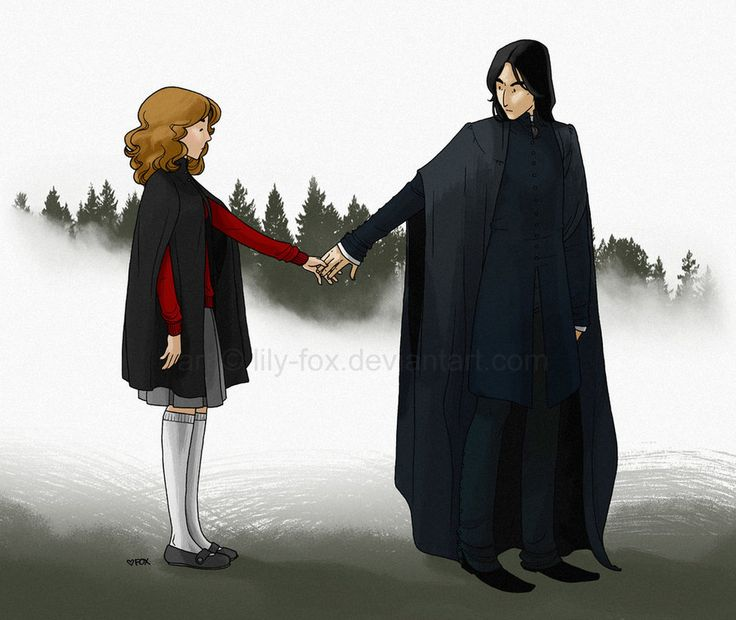 Severus Snape & Hermione Granger. Apparate in tandem by lily-fox on deviantART