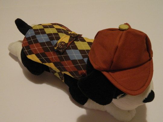 Dog Detective costume, small dog costume,Sherlock Hound, Sherlock Holmes Costume by FashionFurPaws on Etsy