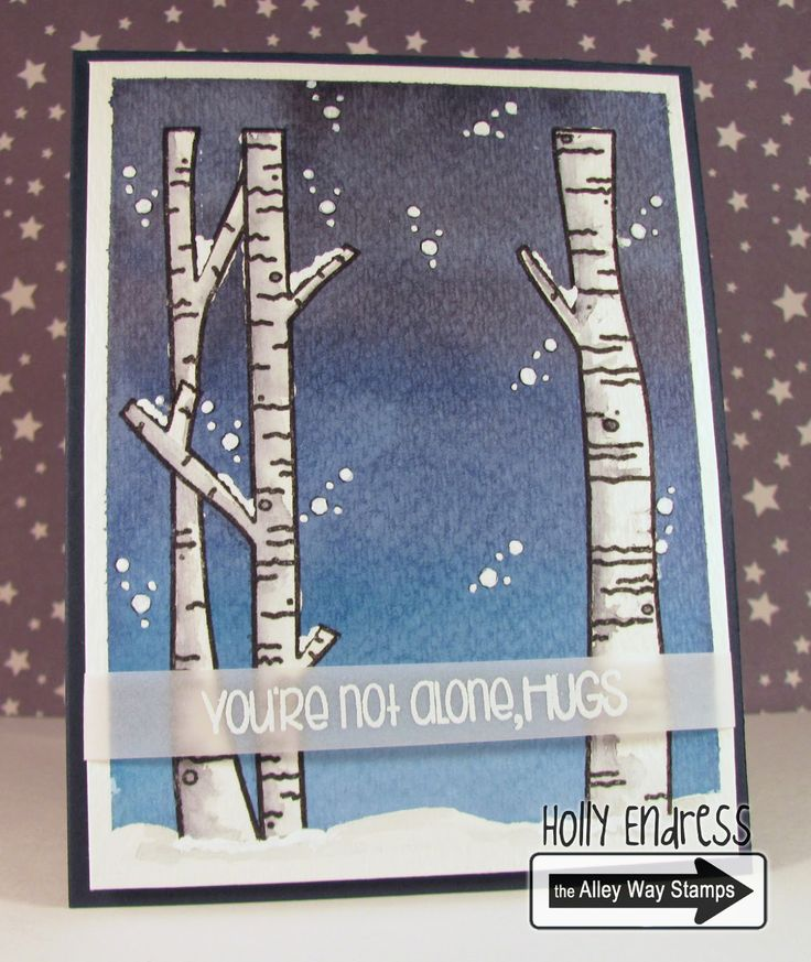 Hollybeary Creations || The Alley Way Stamps, TAWS, cards, clear stamps, Nessie, Moosing You, Watercolor, Peerless