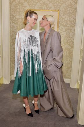 Sarah Paulson and Lady Gaga attend ELLE's 25th Annual Women In Hollywood Celebration presented by L'Oreal Paris Hearts On Fire and CALVIN KLEI…