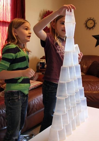 Cup Stacking ~ simple game that your kids will love.