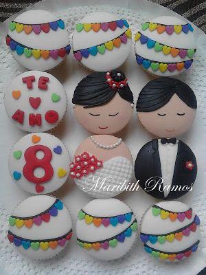 Boda aniversario cupcake