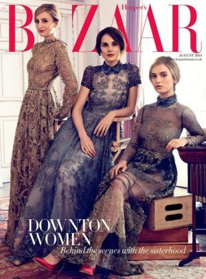The ladies of Downton Abbey for Harpers Bazaar UK August 2014 cover.jpg
