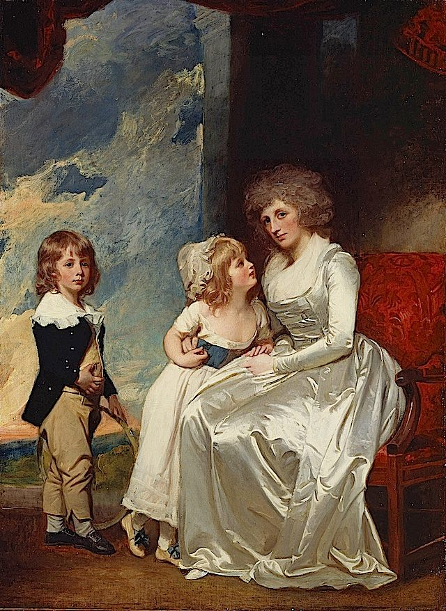 1787-1789 Henrietta, Countess of Warwick, and Her Children by George Romney (Frick collection) From 18thcenturyblog.com:2012:03:george-romne...