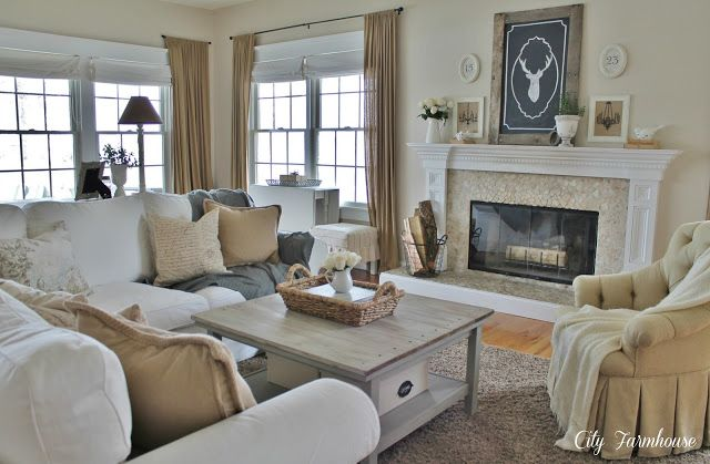 Family Room Reveal-Thrifty, Pretty & Functional - City Farmhouse