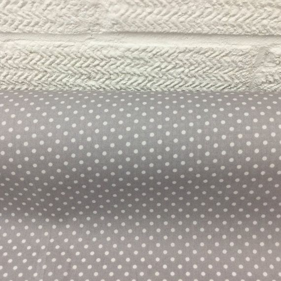 Spotted SILVER Cotton Fabric Tiny Spots small spotted