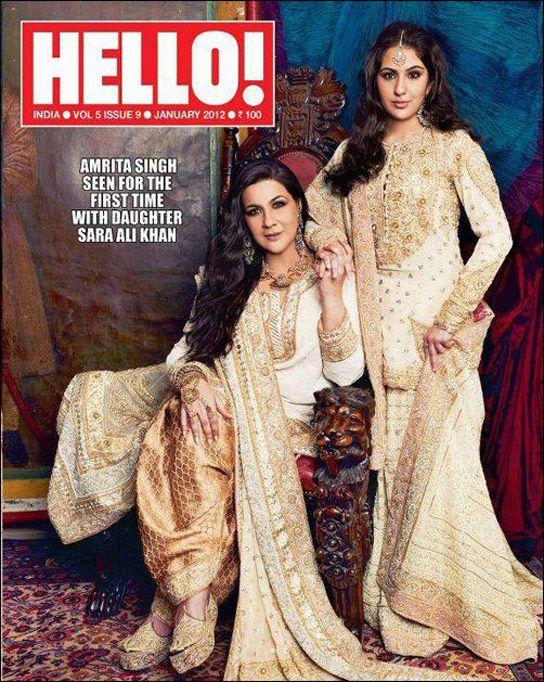Amrita Singh-Sara AliKhan for Hello magazine issue January 2012