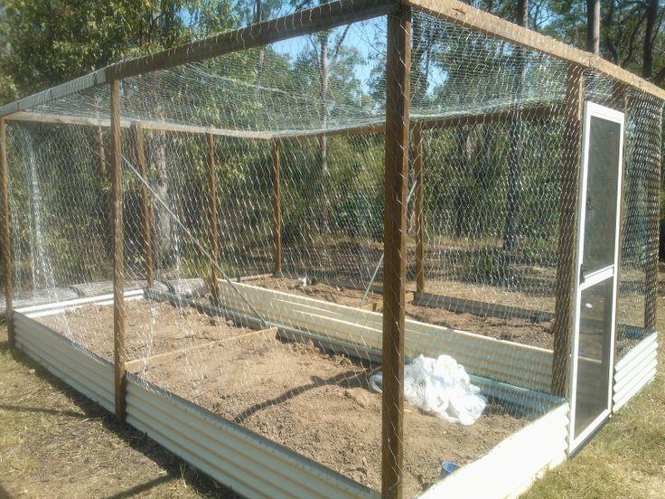 covered vegetable garden