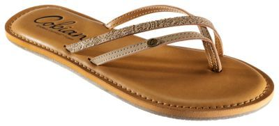 Cobian Lucia Thong Sandals for Ladies - Natural - 10M