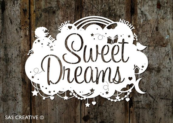 Fancy having a go at creating your own papercut, but dont have time to design your own? Why not try cutting my original design Sweet Dreams papercut
