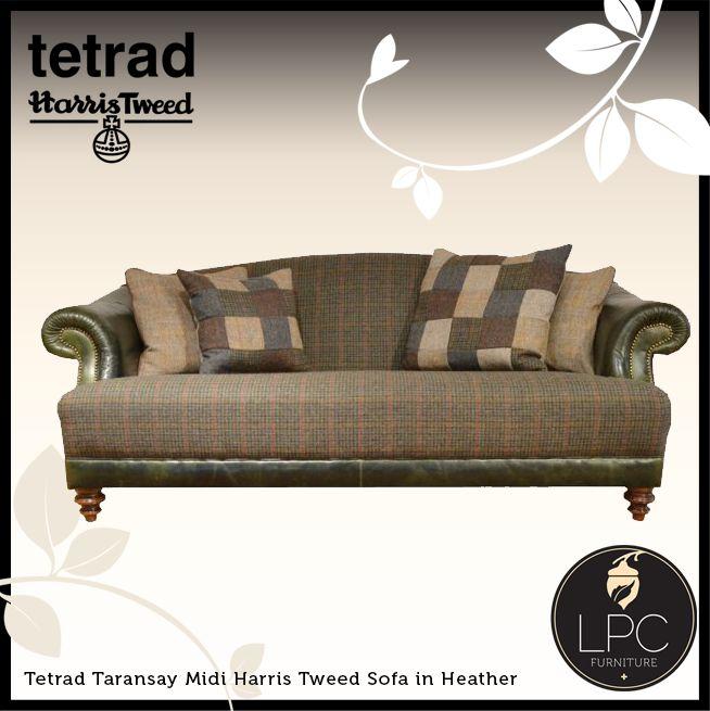Captivating Tetrad Taransay Midi Harris Tweed Sofa In Heather. Www.lpcfurniture.co.uk