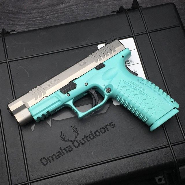 Springfield XDM Tiffany Blue 9mm 19 RDS 4.5″ Handgun - Omaha Outdoors