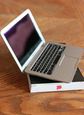 Doll Laptop Notebook Computer MacBook 1 3 1 4 Scale Silver American Girl Prop   eBay