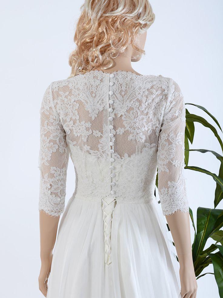 Bridal bolero lace wj021 lace wedding and strapless for Wedding dress bolero jacket