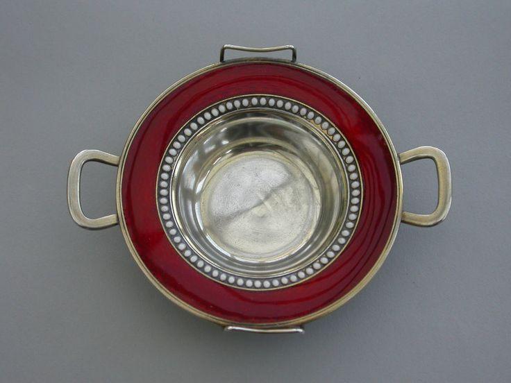 Early David Anderson Norway Silver Gilt & Red Guilloche Enamel Dish c1900 - 1905 #DavidAndersonNorway