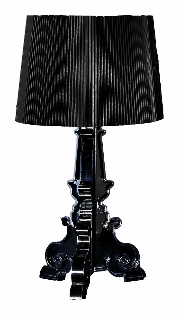 Amazing bourgie black table lamp frn kartell design by for Kartell lampe replica