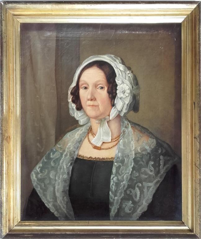 Porträtt; olja på duk; 1800-talet