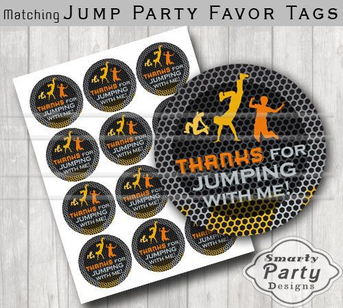 Jump Trampoline Bounce House Thank You Party by SmartyPartyDesigns