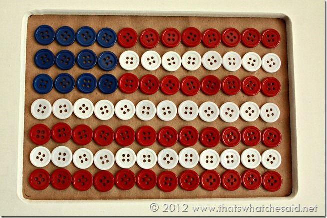 Button Flag Art