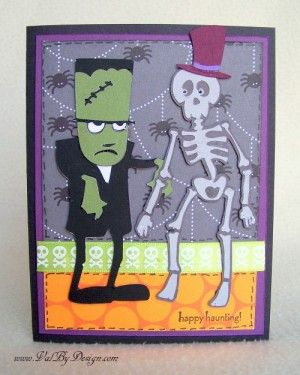 Quick 'n Easy Halloween card with Cricut & Happy Hauntings by Val by Design