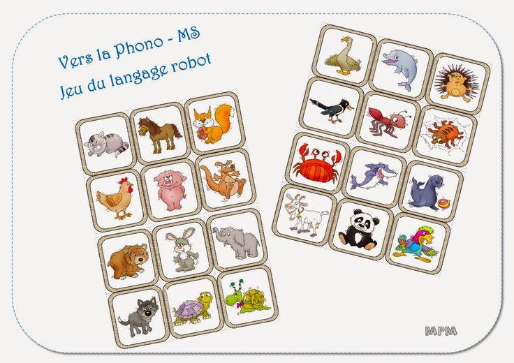 Imagier des animaux - Vers la phono MS