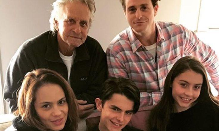 Cameron Douglas with his family