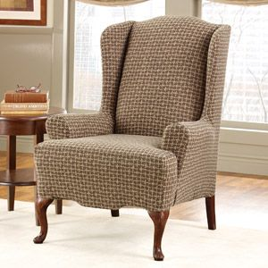 Superb Surefit Stretch Baxter Wing Chair Slipcover