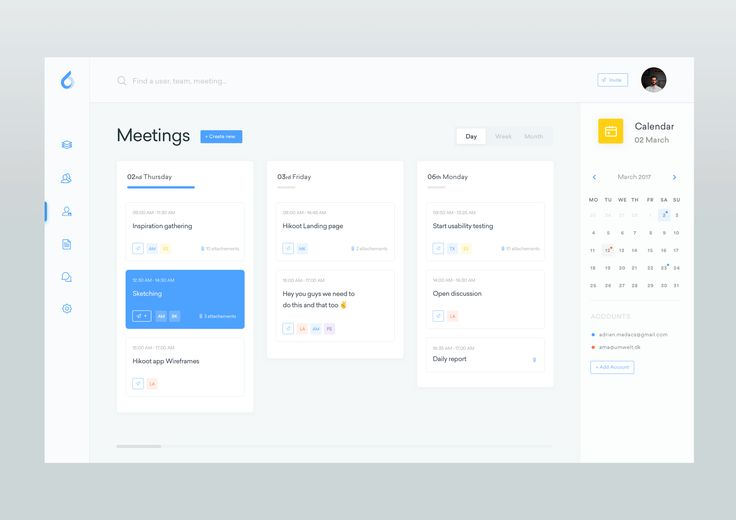Dribbble - meetings_-_dasboard.png by Adrian Madács