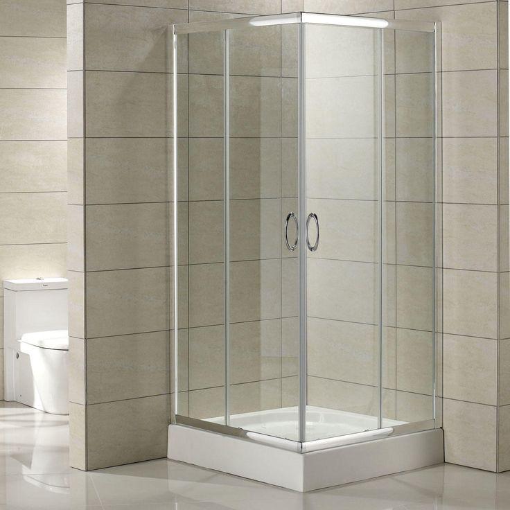 """34"""" x 34"""" Torres Corner Double Door Shower Enclosure The"""