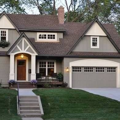 love these exterior colors brown roof with gray and cream house colors - Exterior House Colors Brown