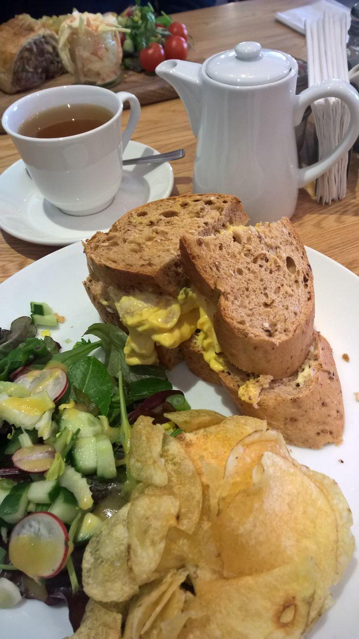 Coronation Chicken Sandwich. The Sugared Butterfly, Helmsley