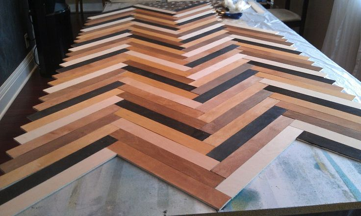How To Make Herringbone Table Interior Design Ideas