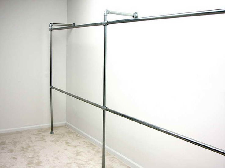 Planning Ideas Durable Galvanized Pipe Clothes Rack Metal Rolling Closet Ikea Along With
