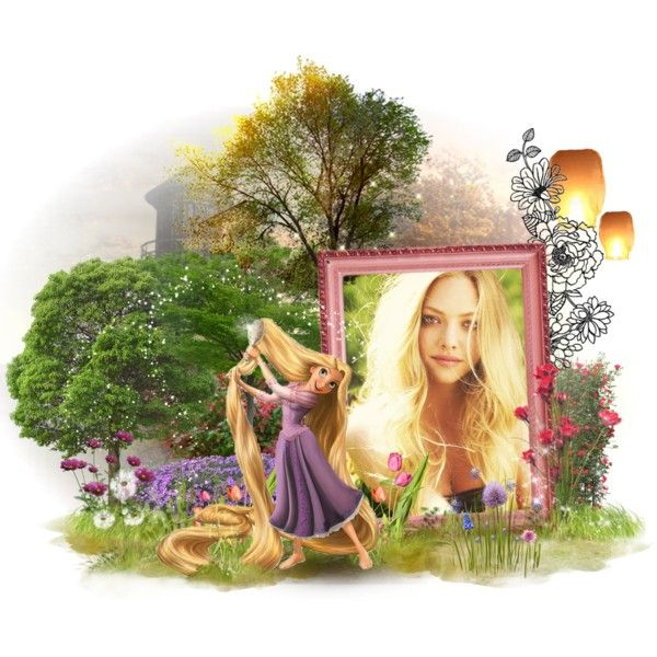 "Amanda Seyfried as ""Rapunzel"" by mitomana on Polyvore featuring art, disney, dreamcast, princess, rapunzel and tangled"