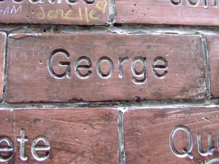 Paul McCartney's Brick on the Cavern Wall of Fame in Mathew Street, Liverpool City Centre...  http://georgeharrisononline.blogspot.com