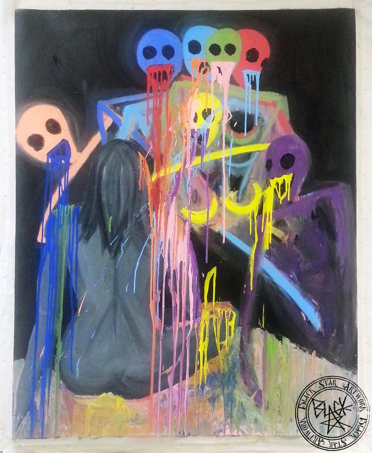 """LSD""   48"" x 60""   Oil on canvas   Black Star Artwork by Leonard Walsh  www.facebook.com/BlackStarArtwork http://bit.ly/1bCN2xI"