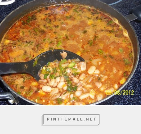 Frijoles Borrachos con Chorizo (Drunken Pinto Beans with Chorizo) - Hispanic Kitchen - created via http://pinthemall.net