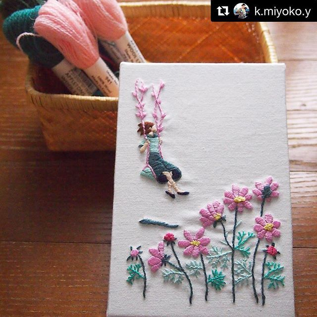 @k.miyoko.y #handbroidery #needlework #ricamo #bordado #broderie #embroidery