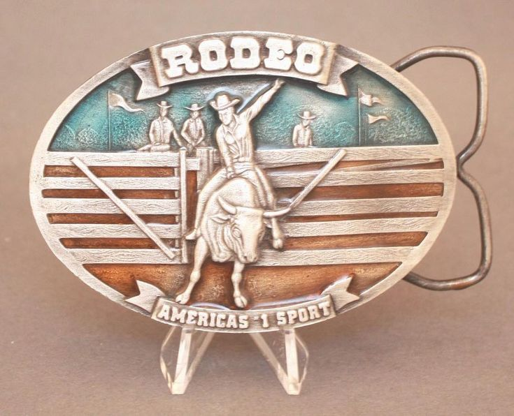 Vintage 1977 Rodeo belt buckle by Arroyo Grande available for purchase via paypal, $25 w/free shipping!