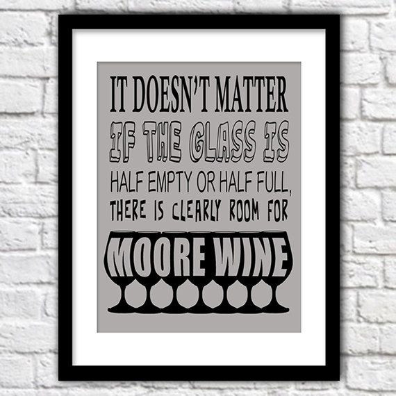 Kitchen Print Typography Kitchen Print  Wine Print by Woofworld