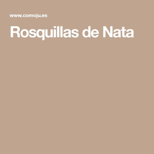 Rosquillas de Nata