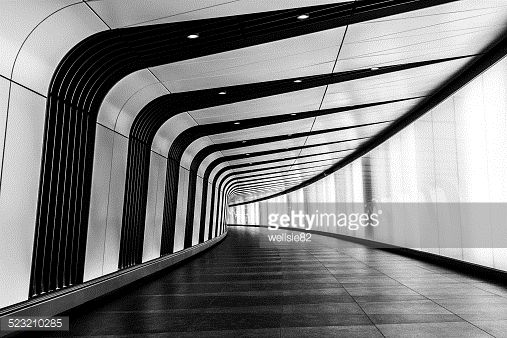 Modern tunnel at King's Cross Station