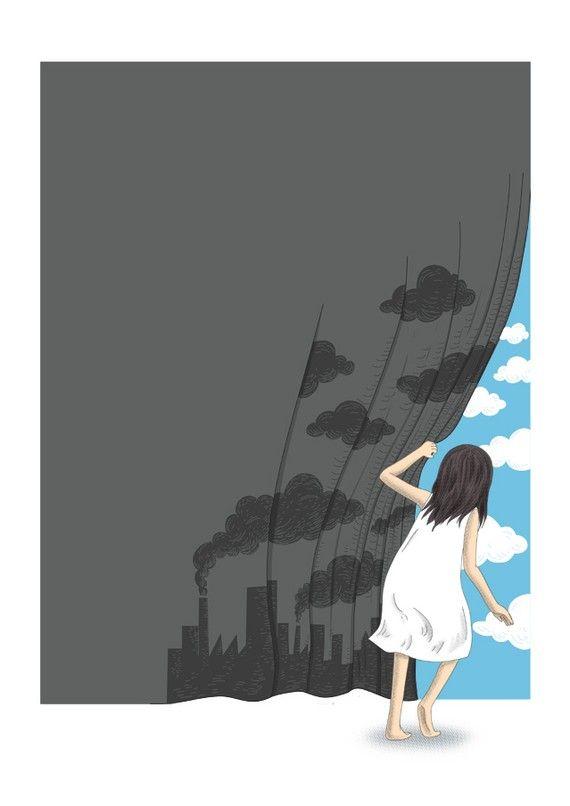 Hey Mr Blue Sky Print by ilovedoodle on Etsy