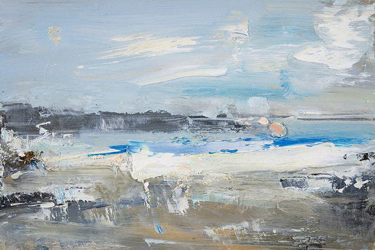 Hannah Woodman, Blue Summer, Sennen. 2014. Oil on board. 20 x 30cm
