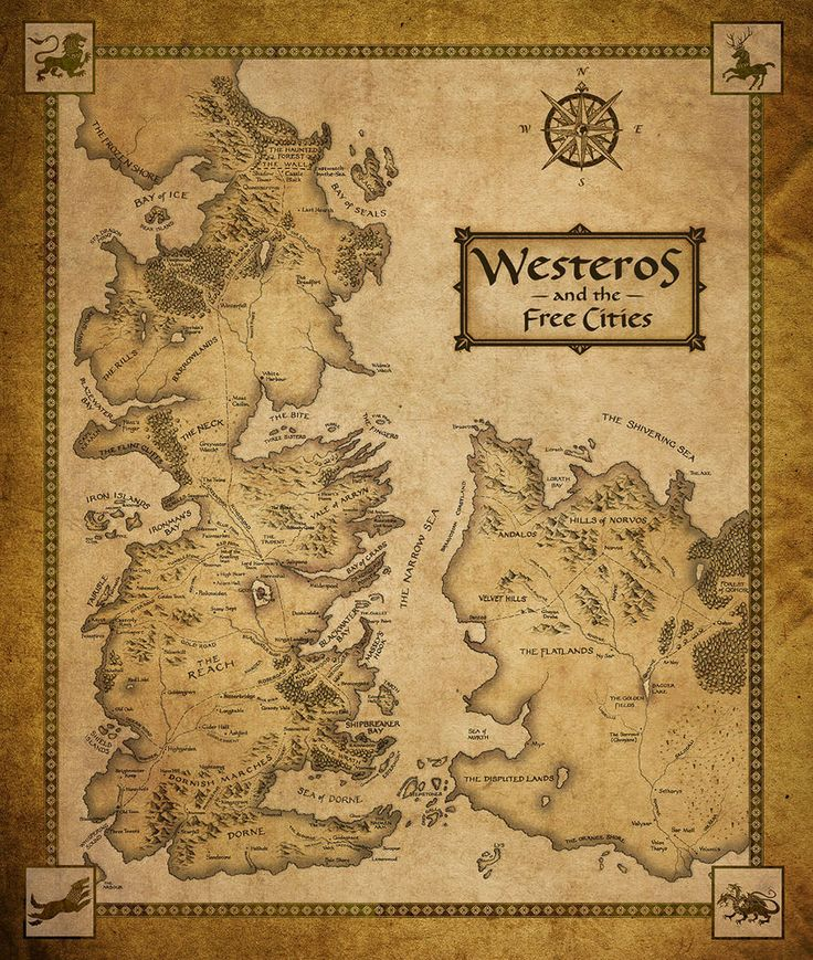 Game Of Thrones Houses Map Westeros And