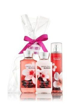 ath & Body Works Japanese Cherry Blossom Gift Set – All New Daily Trio